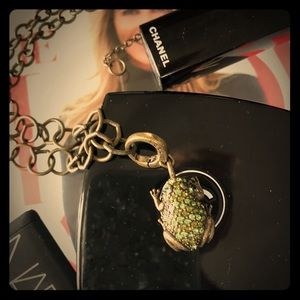 🐸 Crystal frog necklace 🐸 by Fossil